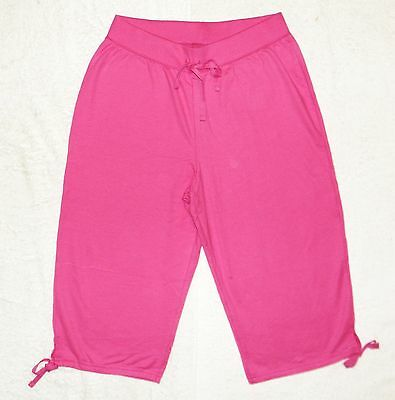 Plus JMS Just My Size French Terry Capri Pants Capris 2X Deep Raspberry NEW.