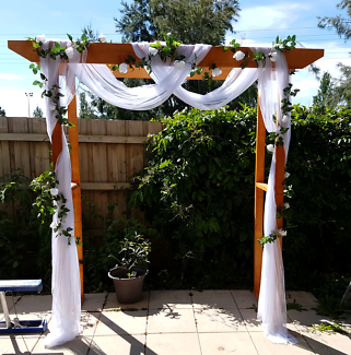 Wooden arch arbour for hire weddings