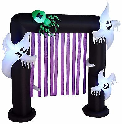 Halloween Air Blown LED Inflatable Yard Party Decoration Ghosts & Spider Archway](Inflatable Halloween Spider)