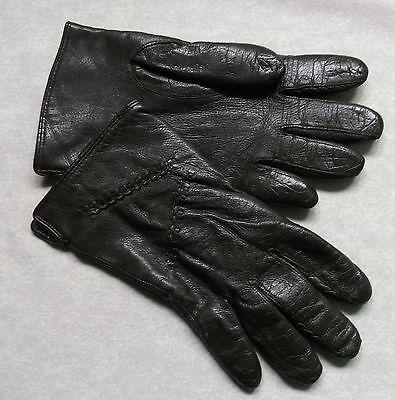 Vintage Gloves WOMENS Leather Retro DARK BROWN
