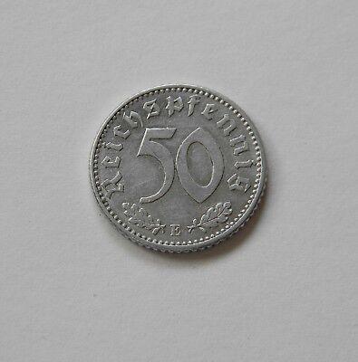 DRITTES REICH: 50 Reichspfennig 1935 E, J. 368,prägefrisch/unc.,  II.