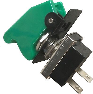 ON/OFF ELECTRICAL TOGGLE SWITCH & AIRCRAFT FLIP COVER- BLUE CAR