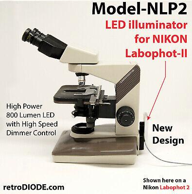 Led Illuminator Retrofit Kit With Dimmer Control Nikon Labophot-2 Microscopes.
