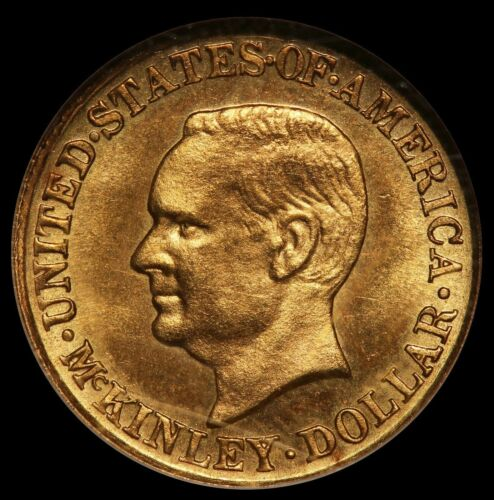 1916 U.S. William McKinley $1 One Dollar Commemorative Gold Coin - NGC MS 64