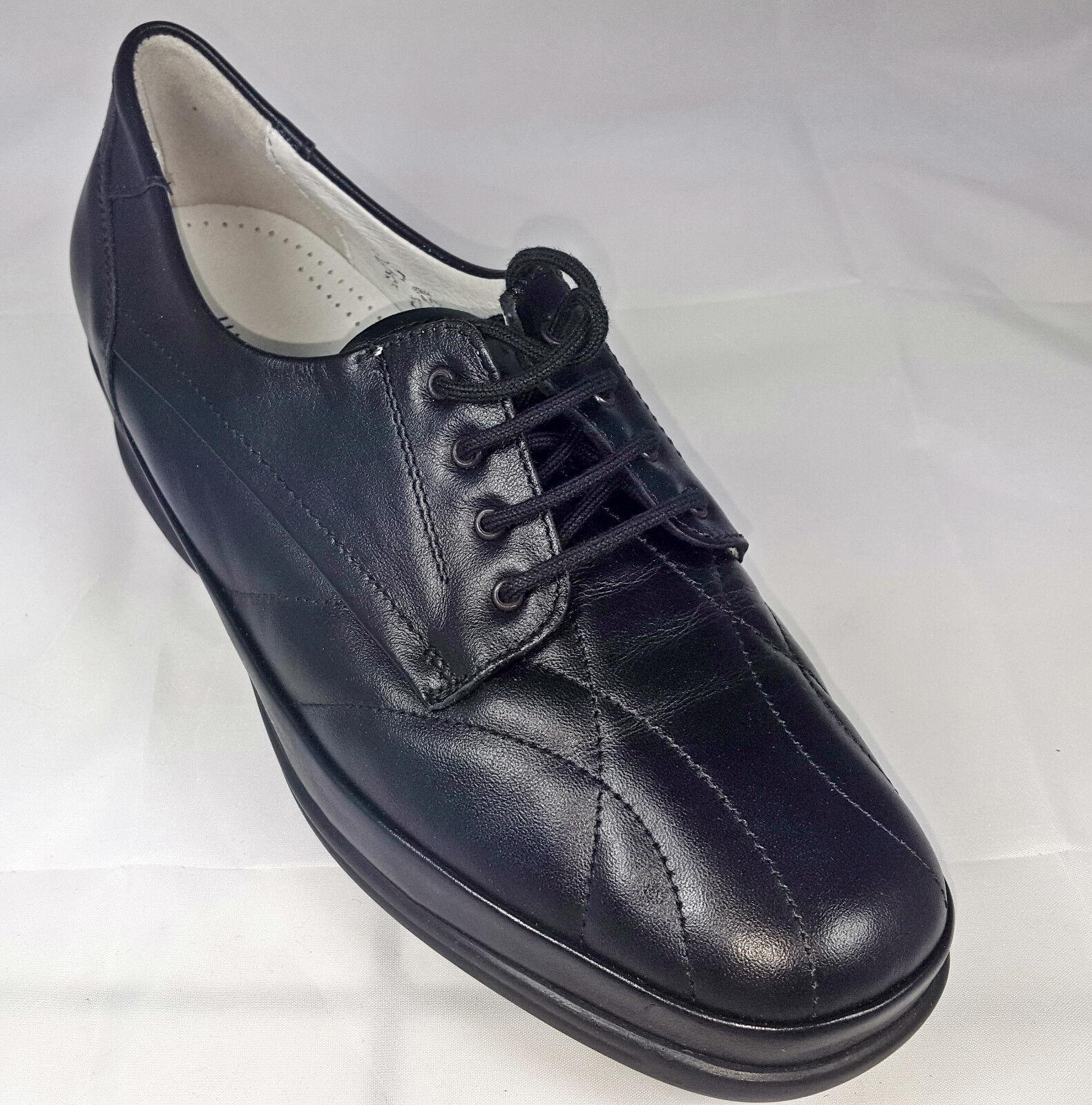 Waldläufer Schuhe Damen Leder Weite K schwarz Schnürschuhe Neu 583 ... 237811d5eb