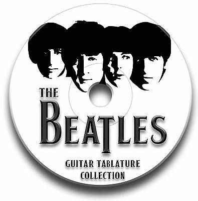 THE BEATLES ROCK POP GUITAR TAB TABLATURE SONG BOOK TUITION SOFTWARE CD