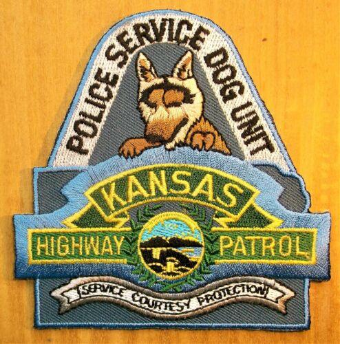 GEMSCO NOS Vintage Patch POLICE HIGHWAY PATROL SERVICE DOG UNIT KS Original 25+