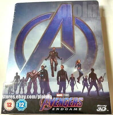 AVENGERS: ENDGAME New 3D + 2D Blu-Ray STEELBOOK Marvel MCU -- SHIPS NOW From USA