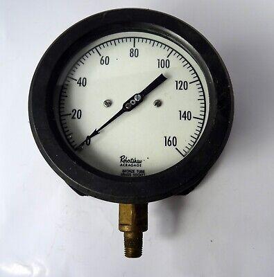 Robert Shaw Acragage Pressure Gauge 5 12 Dia. Steampunk