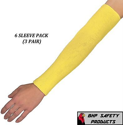 Dupont 18 Kevlar Cut Resistant Sleeve 18 Inch 2 Ply Washable 6 Pack 3 Pair