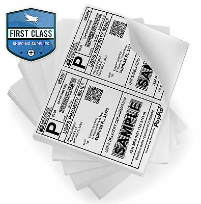 1000 Self Adhesive Shipping Labels 2 Per Sheet 8.5 x 5.5 - eBay UPS USPS 5126