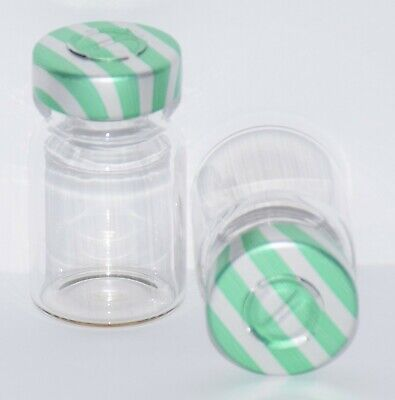 USP 5 mL Clear Sterile Vial with Green Stripe Center Tear Seal 4 Pack