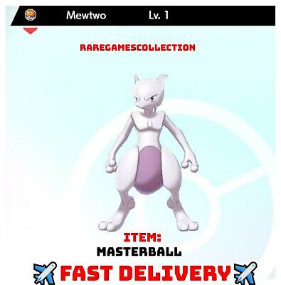 Pokemon Sword Shield 1 LEVEL MEWTWO LEGENDARY 6IV FAST DELIVERY