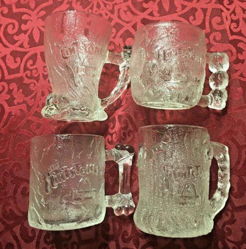 VINTAGE 1993 McDonalds FLINTSTONES (Flintstone) Glass Mug Cups SEE SELECTIONS