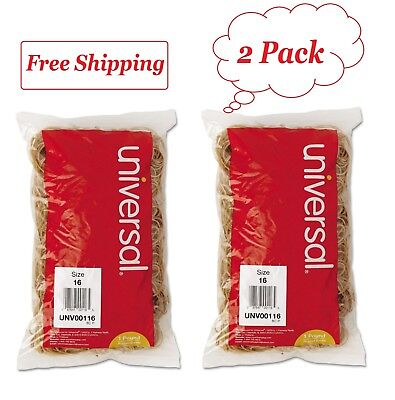 Universal Rubber Bands Size 16 2-12 X 116 1900 Bands1lb Pack 2