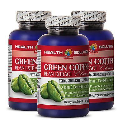 Rhubarb seeds GREEN COFFEE Clean 400mg weight loss diet formula 3 Bottles