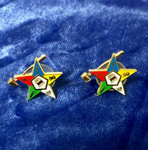 OES Order of the Easter Star Gavel Gold Stud Earrings