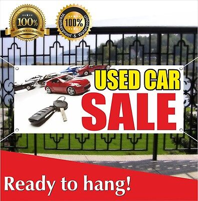Used Car Sale Banner Vinyl Mesh Banner Sign Flag Many Sizes Clearance Car