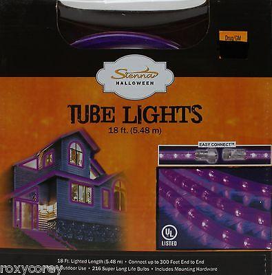 Halloween Sienna 18 ft Purple Tube Lights 216 Super Long Life Bulbs NIB
