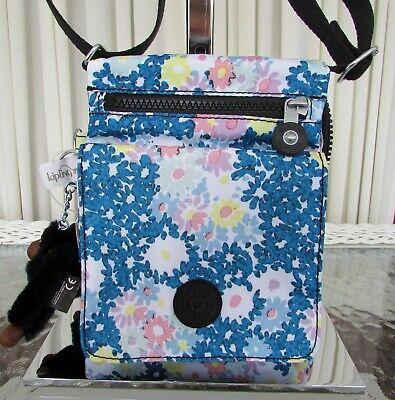 Kipling El Dorado Crossbody Travel Bag Orgnaizer Floral Make Happy NWT