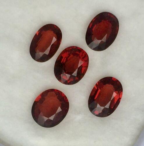 VVS 90% Lot 5/Pcs 3.88 ct.Oval Brown Natural Spinel Mogok Gemstones.