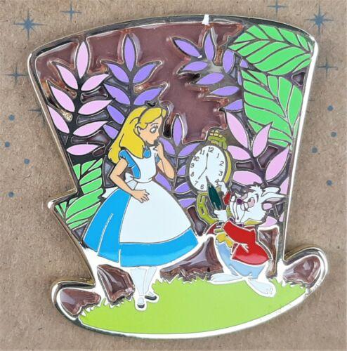 Disney Alice in Wonderland Hat Scene Enamel Trading Pin White Rabbit Mad Hatter