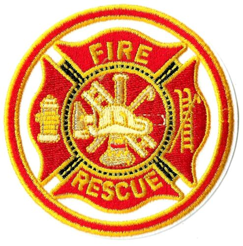 Firemen - Fire and Rescue Seal Logo Patch - Embroidered Iron or Sew On Patches