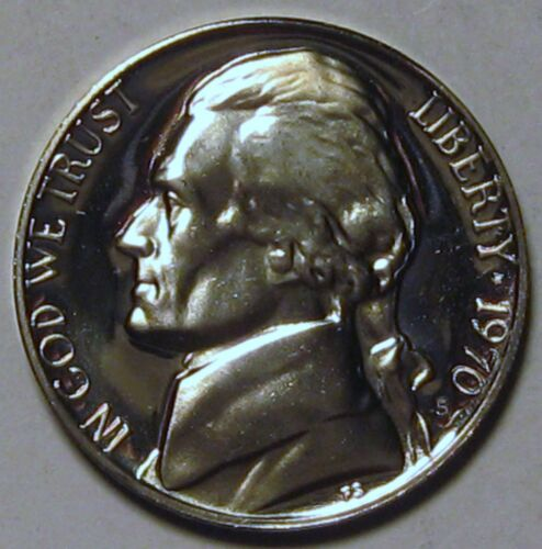 1970-S Proof Jefferson Nickel Full Steps Nice Coins Priced Right Shipped FREE