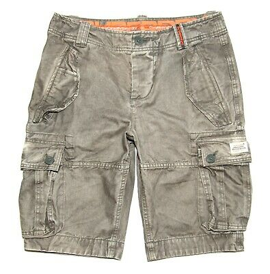 Mens Superdry Cargo Shorts  Grey Vintage Finish   Small  W28  Inseam 11in  £49