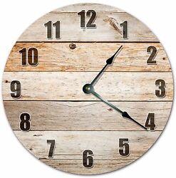10.5 RUSTIC WOOD BOARDS CLOCK - FARMHOUSE CLOCK - Large 10.5 Wall Clock - 4016