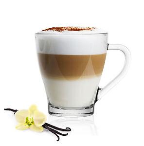 6 Cappuccino Tassen Kaffeegläser Teegläser 250 ml und 6 Edelstahl-Löffel GRATIS
