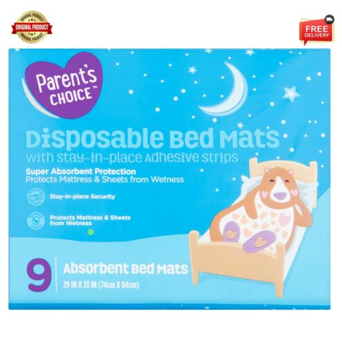 Parents Choice Disposable Bed Mats 9 Count Free Shipping