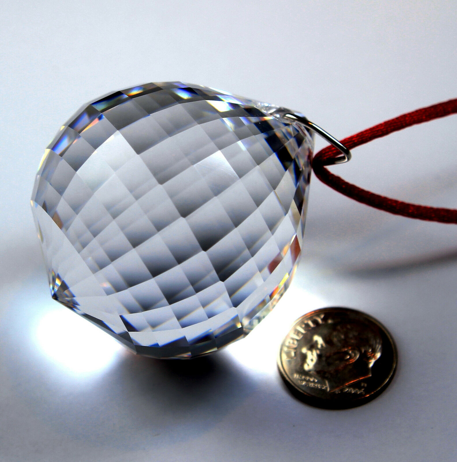 Ready To Hang SunCatcher Large 40mm Fine Crystal Clear DISCO BALL Gift Boxed