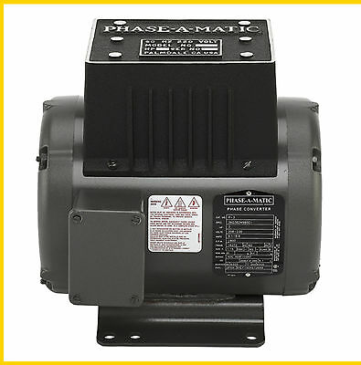Phase-a-matic R-3 220v 3hp Rotary Converter- New