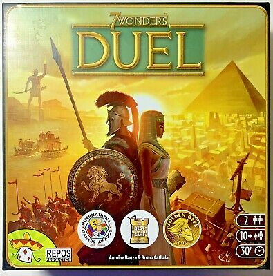 7 Wonders: Duel Board Game By Repos Productions, Preowned, Complete