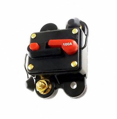 Scosche 100 AMP 12 Volt Circuit Breaker Fuse Holder Car Audio Stereo Reset