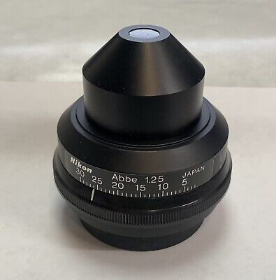 Nikon Bright Field Microscope Condenser Abbe 1.25 For Labophot Optiphot