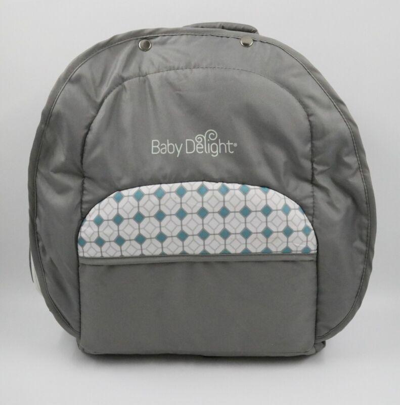 Baby Delight Snuggle Nest Traveler Bl, Diamond Lattice - Gray/Aqua