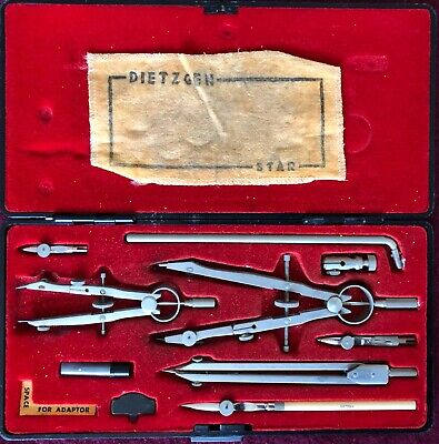 Vintage Dietzgen Star 1288-PJL Drafting Tools Kit in Case