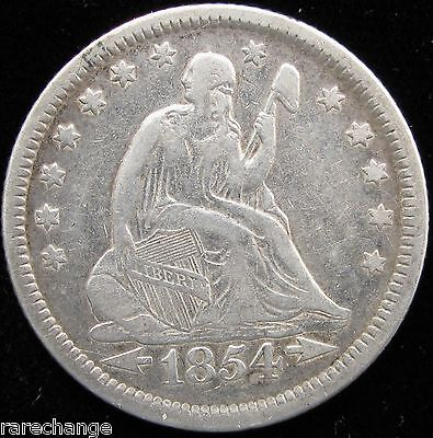 1854-O LIBERTY SEATED 25C SILVER QUARTER