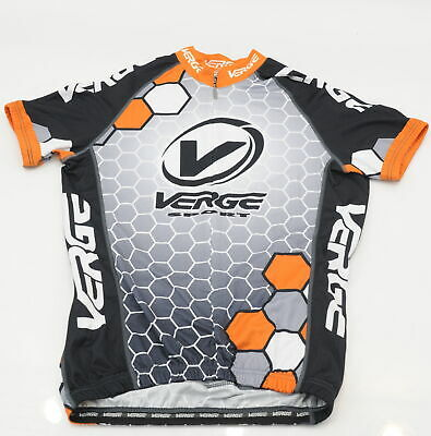 Brand New Verge Black//White Short Sleeve Cycling Jersey XS