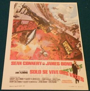You Only Live Twice (1967) Bond Connery Original  Movie Poster Spanish Herald