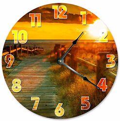 WALKWAY TO BEACH Clock - Large 10.5 Wall Clock - 2071