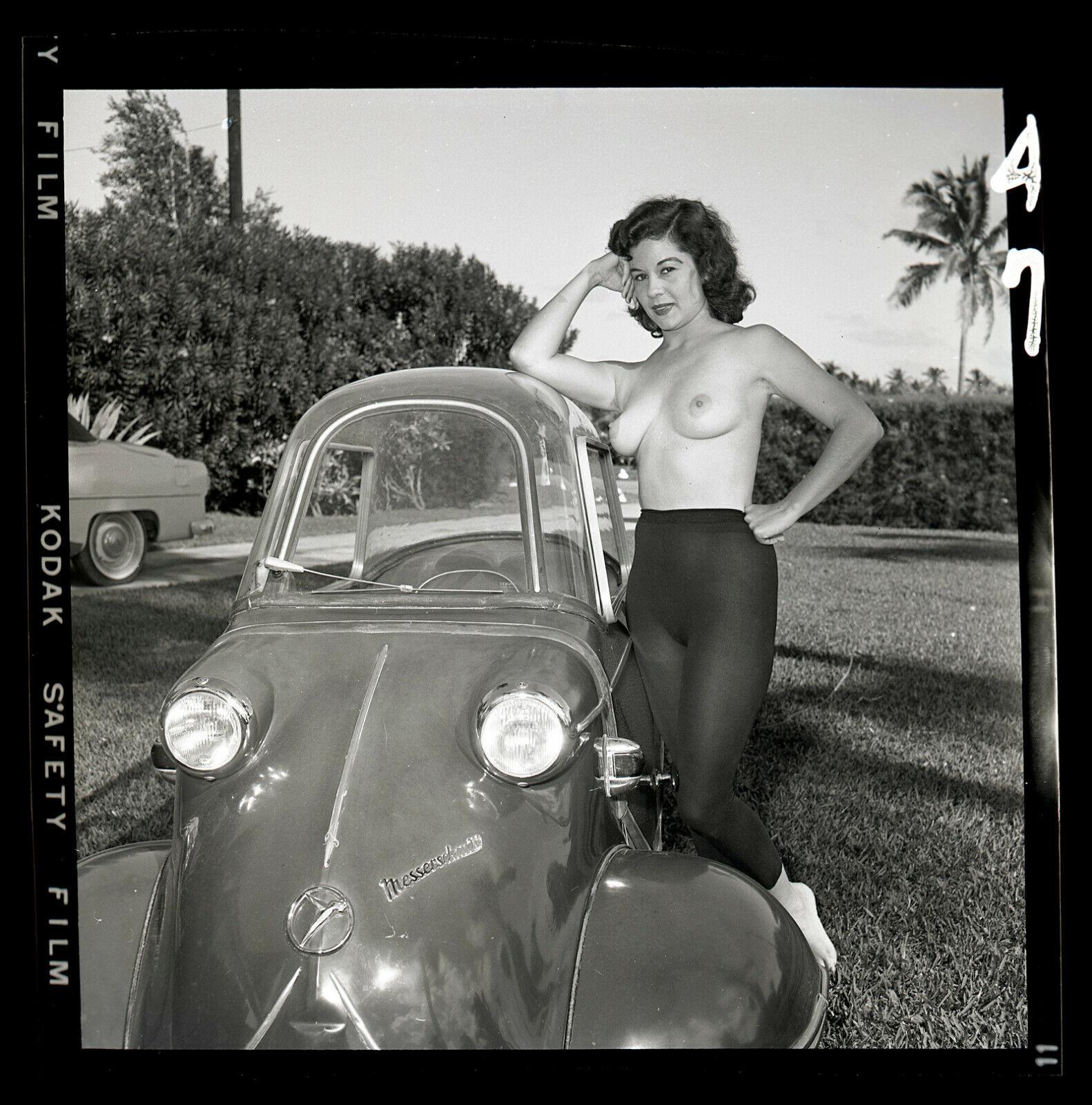 DEBBIE NORRIS 1950s Nude Model Bunny Yeager Archive Orig 2 1/4 Camera Negative - $118.50