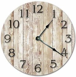 10.5 OLD WOOD BOARDS CLOCK - FARMHOUSE CLOCK - Large 10.5 Wall Clock - 4017