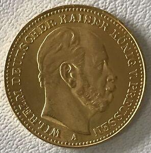 Deutsches Reich - 20 Mark 1875 A Gold - Kaiser Wilhelm König v.Preussen -ss/vz