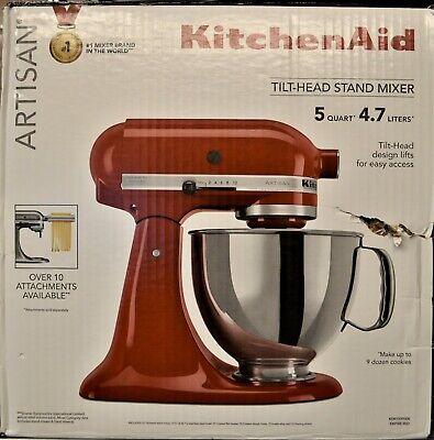 KitchenAid KSM150PSER Artisan Tilt-Head 5-Qt Stand Mixer - Empire Red
