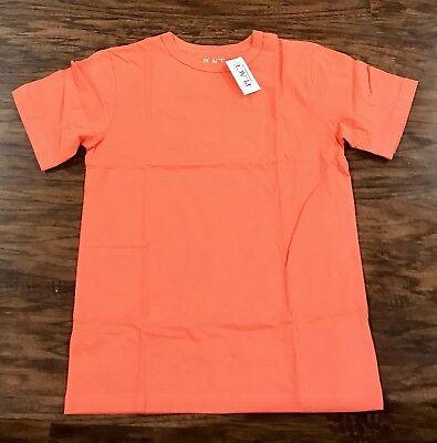 New THE CHILDRENS PLACE Big Boy Shirt Size M 7/8 Fusion Orange Cotton