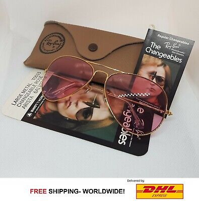 Ray Ban Pink Aviators Vintage Bausch and Lomb Edition 58mm Rose Sunglasses (Rose Ray Ban Aviators)
