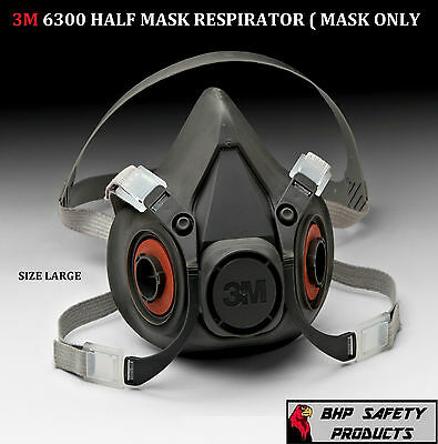 3M 6300 HALF MASK RESPIRATOR SIZE LARGE ( MASK ONLY )